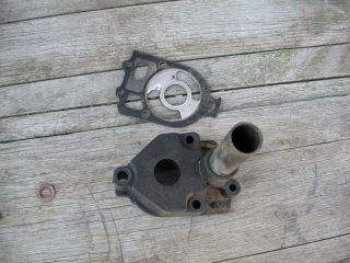 Mercury 1960 80HP Inline 6 Water Pump Housing and Ware Plate