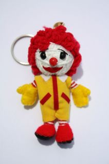Ronald McDonald Lucky Voodoo String Doll Keychain Ornament Charm