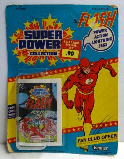 Vintage 1984 Kenner Super Powers The Flash Card Only No Figure