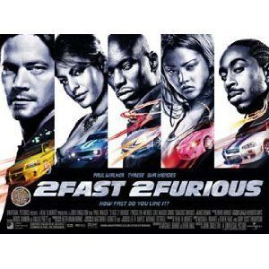 2FAST 2 Furious Mini Movie Poster Paul Walker Tyrese Eva Mendes
