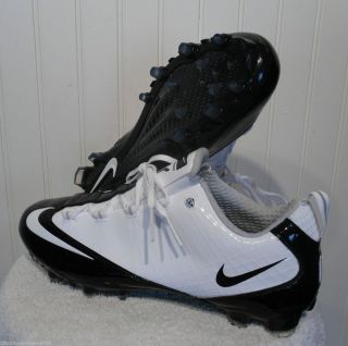 NEW Nike Zoom Vapor Carbon Fly TD Mens Football Cleats 15 White Black