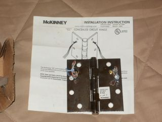 McKinney Concealed Electric Hinge 4 5 x 4 5