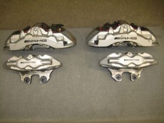 OEM Mercedes Benz S Class S55 AMG Silver Calipers Front And Rear 02 06