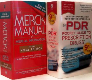 PDR Guide Prescription & MERCK MANUAL OF MEDICAL INFORM 2 Book Set NEW