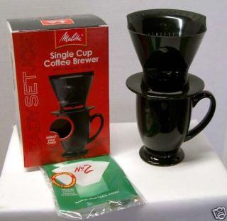 Melitta RSJ Single Cup Coffeebrewer w Ceramic Mug Black