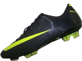 Mens Nike Mercurial Vapor VII Fg Soccer Cleats Size 10 New Black Volt