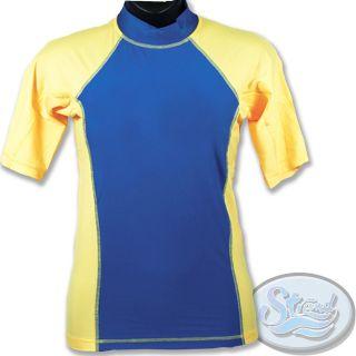 Mens Rash Guard New UV Swim Surf Shirt XSRGL  Medium SPF 50 Swimwear
