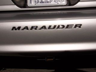 Mercury Marauder Rear Bumper Decal Insert