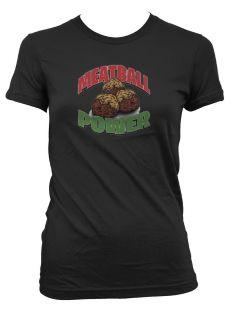 Meatball Power Junior Girls T Shirt Jersey Shore MTV Shows Snooki