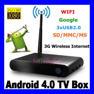 Full HD1080P WiFi Internet Google Play TV Box Media Player