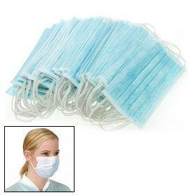 100 Pcs Medical Earloop Surgical Respirator Face Mask