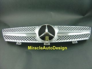 Front Grill Silver for 2005 09 Mercedes Benz W219 CLS