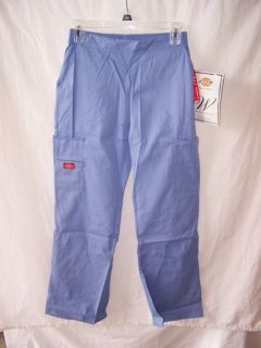 Dickies Medical Uniforms 51305 Ceil Blue XS Flat Front Cargo Scrub