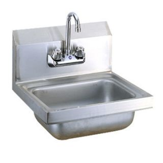 Newcommercial Kitchen Stainless Steel Wall Mount Hand Sink w Faucet