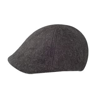 Mens Wool Winter Ivy Cap Full Lined Charcoal Gray M L