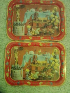 Vintage Metal TV Trays Lap Tray Coca Cola