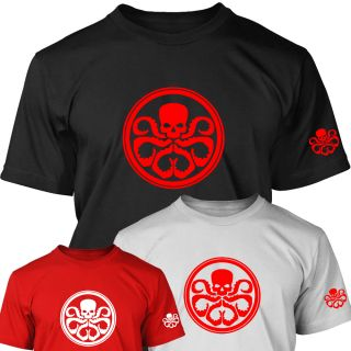 Red Skull Logo Mens T Shirt s XXXL Captain America Super Hero