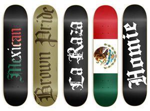 Mexican Blank Graphic Skateboard Decks Flag Brown Pride 8 0 Deck