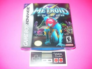 Metroid Fusion Nintendo Game Boy Advance GBA Complete