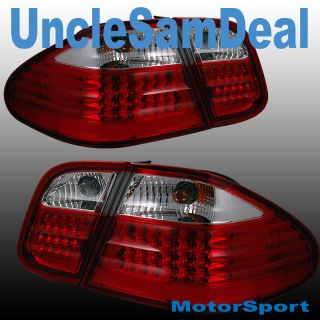 Mercedes Benz CLK Clear Red LED L E D Tail Light Trunk 4piece Direct