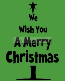 WISH MERRY CHRISTMAS Vinyl Wall Saying Lettering Art Quote Decoration