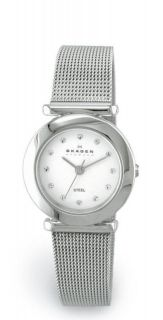 New Skagen Ladies Stainless Steel Mesh Watch 107SSSD