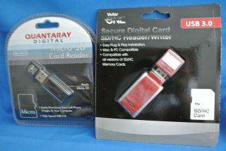 MEMORY CARD READER/WRITER USB 3.0 SD/SDHC (RED), MICRO SD CARD READER