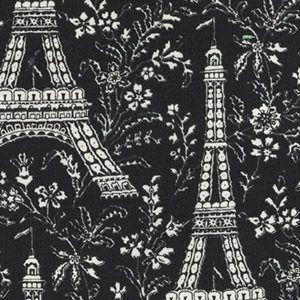 Michael Miller Fabric Eiffel Tower Black