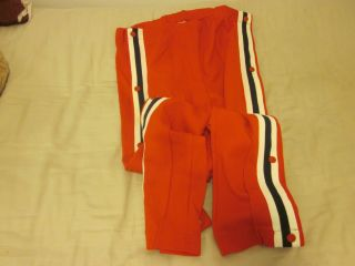 Mid 1970s Memphis Pros ABA Game Used Warm Up Pants