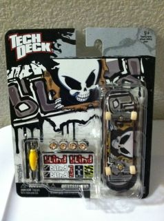 Tech Deck Blind 96mm Skateboard Gold Silver Reaper Design New