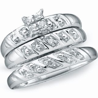 Ladies Mens Diamond Wedding Rings Engagement Set Gold