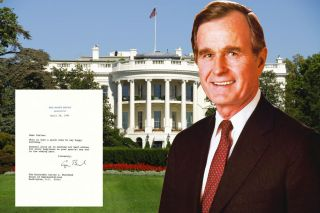 GEORGE BUSH birthday wish to Calif Cong 20 days after Persian Gulf War