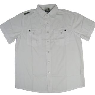 Enyce The Capetown Mens Button Front Shirt in White Enyce Coogi
