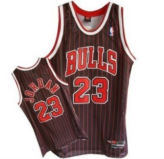 Michael Jordan Chicago Bulls Jersey Black Red NBA Patch