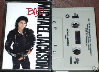 Michael Jackson Bad Cassette Stevie Wonder US Issue