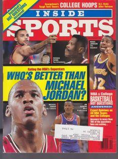 SPORTS MAGAZINE MICHAEL JORDAN CHICAGO BULLS NBA BASKETBALL 1990