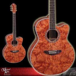 Michael Kelly Natural Acoustic Electric Guitar Series 91 Jumbo Bubinga