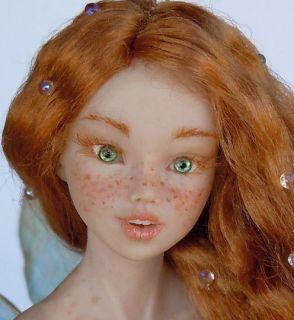 Fairy OOAK Celidonia Sculpture by Daniela Messina Iadr Adsg DMA