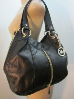 New Michael Michael Kors Auth Moxley Tote Hobo Bag Leather MSRP 450
