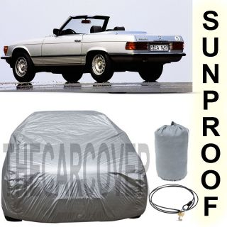 Mercedes Benz 380 SL Sunproof Car Cover Silver 1980 1981 1982 1983
