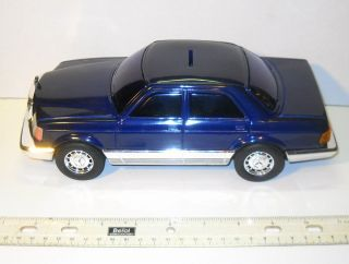 Vintage Mercedes Benz 380 Sel Tin Japan Car MIB Leadworks Bank RARE