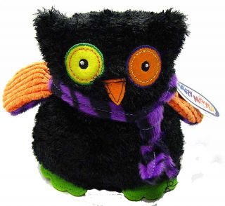Green Haunted Owl with Scarf Stuffed Animal by Mary Meyer New