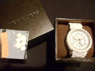 Michael Kors Mens Chronograph White Watch MK8108