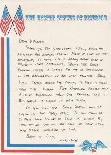 Michael J Smith Autograph Letter Signed