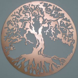 Tree of Life Copper Metal Wall Decor Metal Art