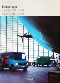 1998 Mercedes Benz Sprinter Vario German Sales Brochure