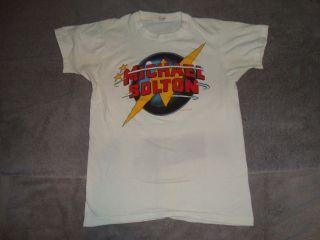 Vintage Original RARE Michael Bolton 1985 Tour T Shirt