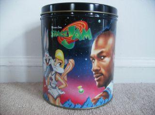 Michael Jordan Bugs Bunny Warner Bros Space Jam Popcorn Canister