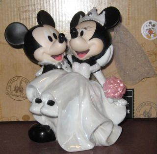 Disney Parks Wedding Mickey Minnie Mouse Cake Topper Figurine Figure