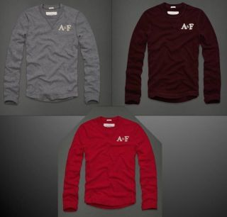 Abercrombie Fitch Johns Brook Mens Long Sleeve Crew Neck Shirt M L XL